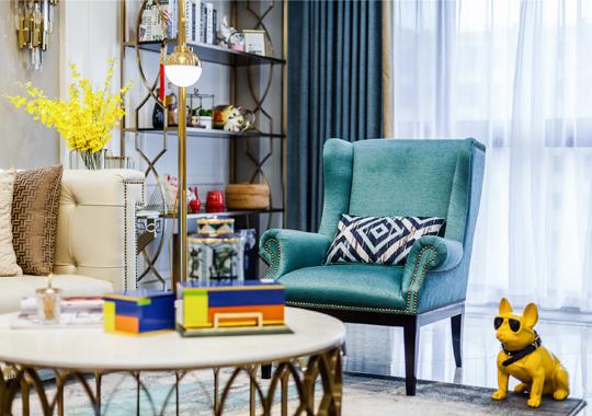 龙湖武林九里小区美式轻奢室内装饰设计