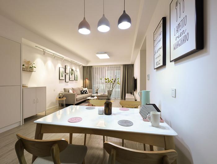 江南国际城装修案例-客餐厅