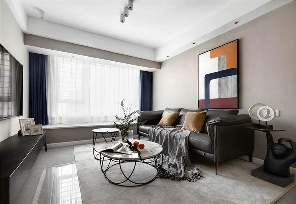 杭州现代风格装修案列:89㎡小空间选用开放式设计是明智的选择!